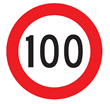 Speed limit 100 km/h.