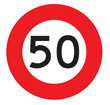 Speed limit 50 km/h.